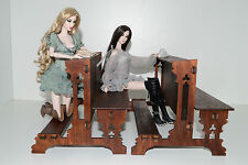 Catholic church bench for Dolls 1/6 scale 12 inch FR Barbie Diorama wooden 1 pcs