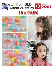 10PCS Mix Colour Baby Kids Girls Small Mini Plastic Flower Crown Hair Claw Clips