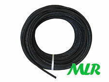 "6MM 1/4"" LOW PRESSURE BLACK POLYESTER BRAIDED FUEL HOSE PIPE 1/2 METER MLR.BAB.5"