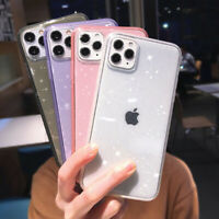 Bling Clear Silicone Soft Case Cover For iPhone 12 Mini 12 Pro Max 11 XS XR X 8
