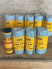 Eight rolls Kodak Plus-X pan 125 Medium Format 220 film Expired 2006. 1 bonus