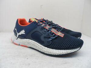 PUMA Men's HYBRID Sky Running Shoes Navy/Orange/White Size 12M
