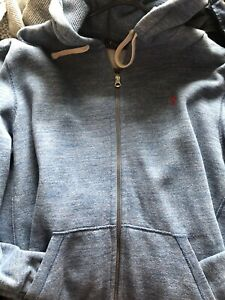 polo ralph lauren hoodie XL immaculate hardky worn light blue