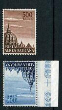 """Vaticano 1953 Posta Aerea """"Cupola di San Pietro"""" 2 val. Boalffi 22/23 perfetta++"""