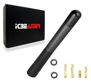 "JDM 5"" Inch Real Carbon Fiber Black Antenna Billet Aluminum For Car & Truck L572"