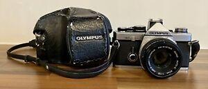 OLYMPUS OM-2N 35MM SLR CAMERA + OM ZUIKO 50MM F1.8 LENS *EXCELLENT CONDITION*