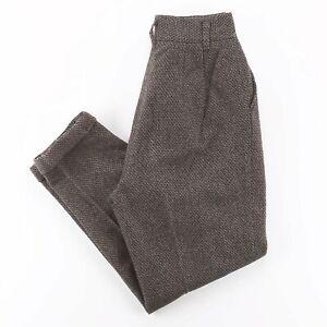 Vintage Brown Tweed Regular Mom Pants Womens W24 L25