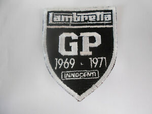 Lambretta GP Innocenti Embroidered Sew on Patch Badge Shield 007766