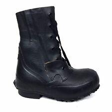 US Hood Military Boots Black Rubber Vintage Size 6 Korean War