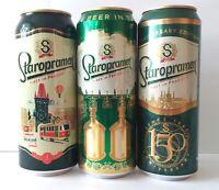 Staropramen beer cans 3 pcs Collector Edition 450-500 ml