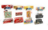 Worlds Smallest Board Game Pack - Scrabble, Operations, Monopoly, and Pictionary