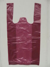 BURGUNDY T-SACK 8 X 4 X 16 PLASTIC BAGS * 2,000 COUNT *