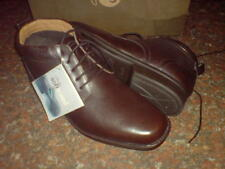CLARKS hommes Foot Fall CUIR BRUN EXTRA DOUX bottes UK 8
