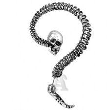 Alchemy Gothic Necacrosome Skeleton Spine Skull Pewter Ear Stud Frame Earring
