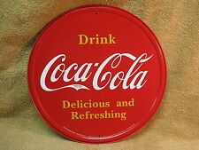 Coke Coca Cola Pop Soda Kitchen Round Tin Metal Sign Wall Decor