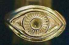 LOOK 0417 Celtic Protection Evil Eye Ring 24kt Gold Plated over real sterling si