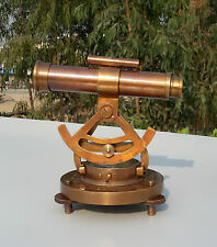 New Brass Transit & Alidade Telescope Compass Survey Instrument From India