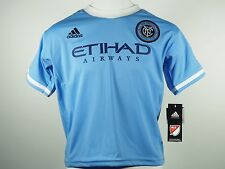 New York City Football Club FC Official Adidas MLS Kids Athletic Jersey New