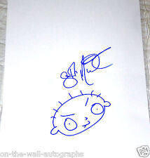 SETH MACFARLANE FAMILY GUY HAND SIGNED 11X14 STEWIE SKETCH DRAWING! W/PROOF+COA!