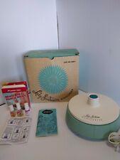 Vtg 1960s Lady Sunbeam Manicurist Ms-1 Manicure Set Nail Tools Blue Retro