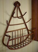 Antique Bentwood Hat and Glove Hanging Rack