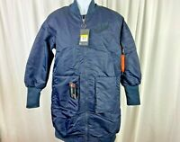 Nike NSW Long Parka Jacket MA-1 Navy Blue Thermore $225 NWT Womens Size Small