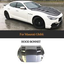 Carbon Fiber Car Front Bumper Hood Bonnet Cover For 2014-2020 Maserati Ghibli