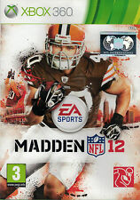 Madden NFL 12, Microsoft Xbox 360 game complete, Used