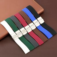 18/20/22/24mm Silicone Watch Band Rubber Replacement Bracelet Safety Clasp