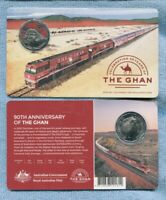 2019 The Ghan 50 cent Coloured Coin 90th Anniversary Train Adelaide to Darwin .