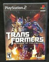 Transformers: Revenge of Fallen  PS2 Playstation 2 Game Tested Working Complete