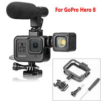 Para GoPro Hero 8 Cámara Alloy Protective Frame Border Case Cage Housing Carcasa