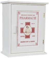 Medizinschrank Landhaus Hausapotheke Shabby Weiß Vintage Druck SP 55