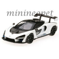 MINI GT MGT00019 McLAREN SENNA 1/64 DIECAST MODEL CAR HONG KONG EXCLUSIVE WHITE