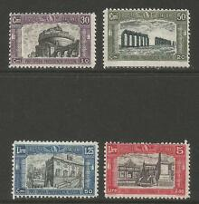 Italy 1928 Historic Architecture semipostal--Attractive Topical (B30-33) MH