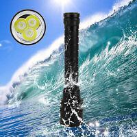 Waterproof 100m 6000Lm 30W 3X CREE XM-L2 LED Scuba Diving Flashlight Torch Light