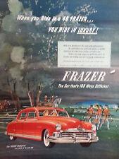 1949 Rosso Kaiser Frazer Manhattan Auto Ride in Lusso Originale Colore Campagna