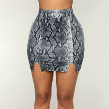 3e56def401 Fashion Women's Sexy Snake Skin Printed High Waist Mini Bodycon Clubwear  Skirts