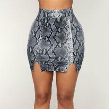 9d5b2e1532 Fashion Women's Sexy Snake Skin Printed High Waist Mini Bodycon Clubwear  Skirts