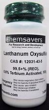 Lanthanum Oxysulfide 995 Reo 06 Terbium Activated 100g