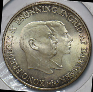 Denmark 1953 2 Kroner UNC Foundation for the Campaign against Tuberculosis in Gr