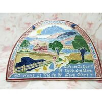Vintage J.Duban Design Tile Decorative Wall Hanging Folk Art House Built 1988