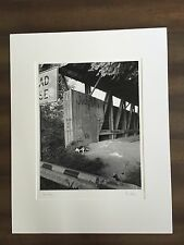 "BRUCE BLUM SIGNED Black and White Photo Print (22""X 28"")-""Covered Bridge """