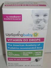 UPSRING BABY VITAMIN D DROPS w/ DROPPER (20ml) 90 Day D3 400 IU Gluten Free