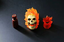 1/6 Male Head Model Ghost Rider Hero Head Carving F 12'' Male Figure Body
