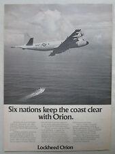 8/1975 PUB LOCKHEED P-3 UPDATE ORION US NAVY MPA MARITIME PATROL AIRCRAFT AD