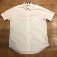 Burberry London Shirt Short Sleeve Stretch Nova Check XL