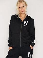 Nike NSW Modern Women's Vintage Hoodie M Black White Casual Full Zip Running New