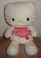 BAB Hello Kitty Plush Stuffed Removable White Skirt Striped Shirt Plastic Eyes