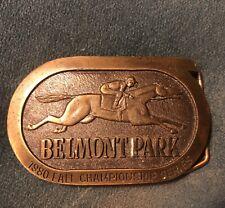 1980 Belmont Park Race Track Fall Championship Series Belt Buckle